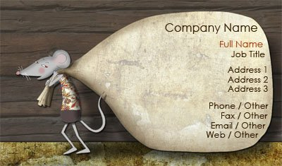 Moving Mouse Business Card Template
